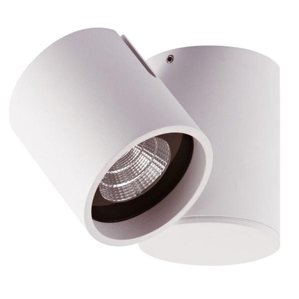 weiße runde schwenkbare LED Deckenleuchte Ø 7.2 cm