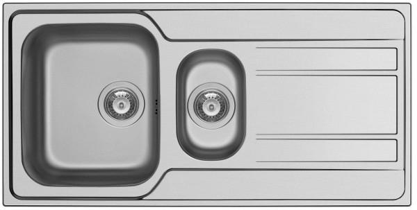 Pyramis Küchenspüle Zeda Extra 100 cm 1 1/2 Becken 1D (flächenbündig)