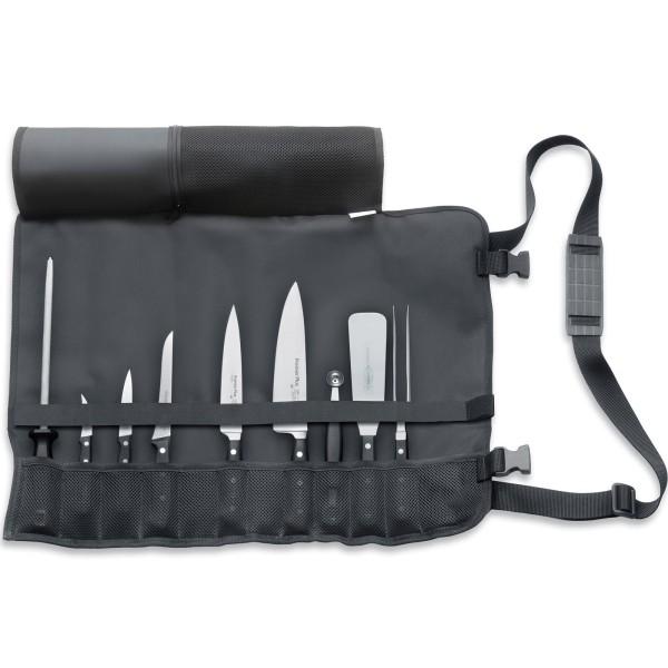 Dick bestückte faltbare Messer-Rolltasche zum Kochen 9 teilig