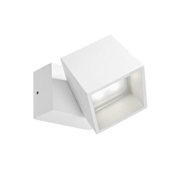 LED Wandleuchte Cubus weiss
