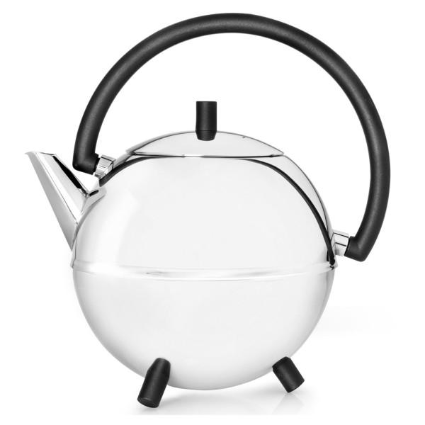 Bredemeijer große Kugel-Teekanne Edelstahl doppelwandig 1.2 Liter