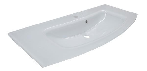 Fackelmann 73201 Waschtisch Rondo Glas weiß 100 cm