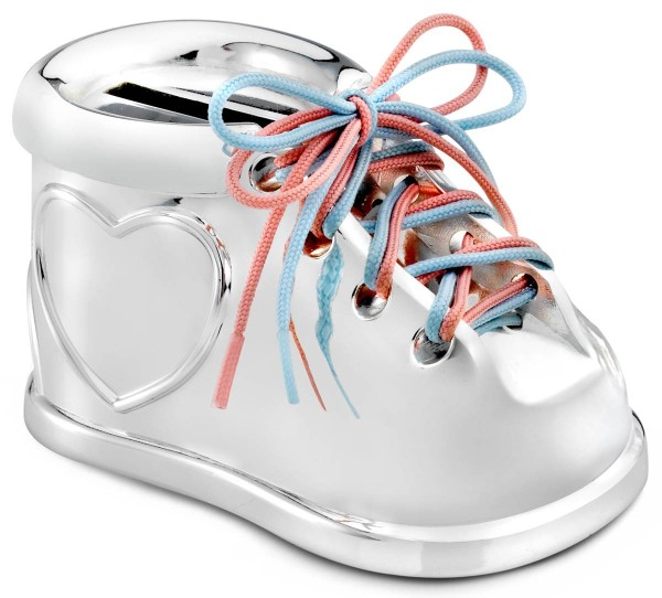 Zilverstad Spardose Schuh versilbert anlaufgeschützt L 9,2 cm B 5,5 cm H 5 cm - Art.-Nr. 7275261
