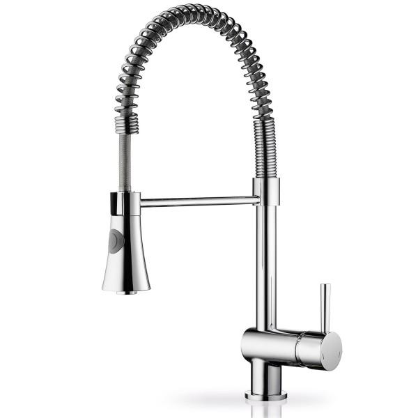 flexibler hoher Küchen Einhebelmischer Ausladung 216 mm