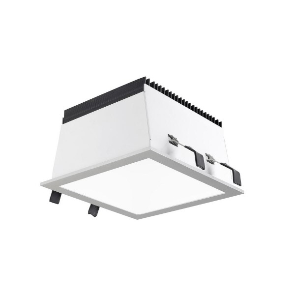 LED Einbauleuchte Equal S Ø 175 mm grau