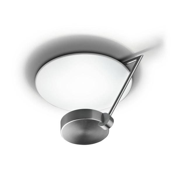 LED Deckenleuchte Ibis Ø 370 mm nickel satiniert