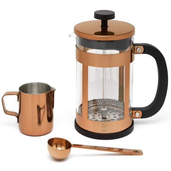 Kaffeebereiter Set 0.8 Liter mit Tasse und Messlöffel 3-teilig