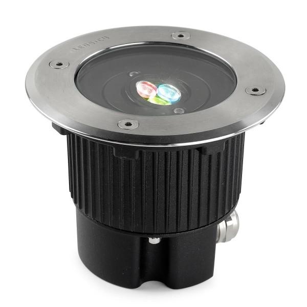 LED Bodeneinbauleuchte Gea Ø 130 mm Edelstahl poliert