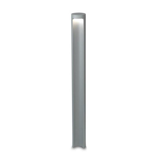 LED Pollerleuchte Haute Ø 90 mm grau