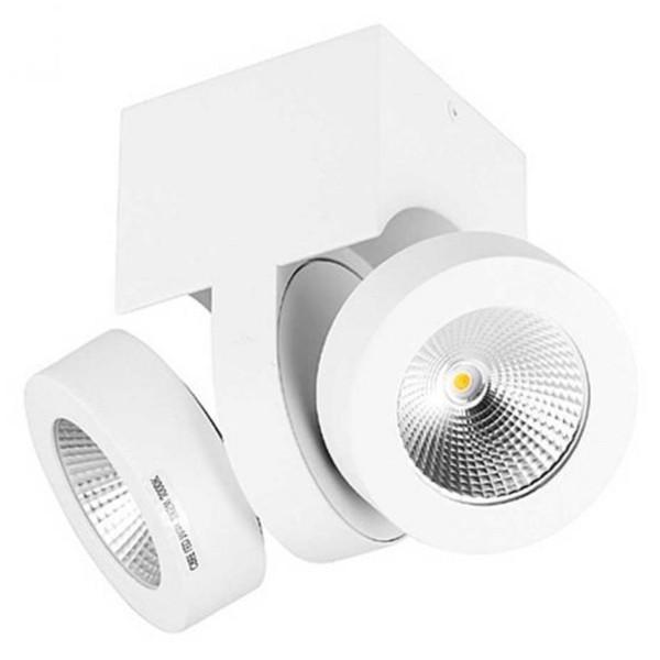 dimmbare schwenkbare LED Innen Deckenaufbauleuchte zweiflammig