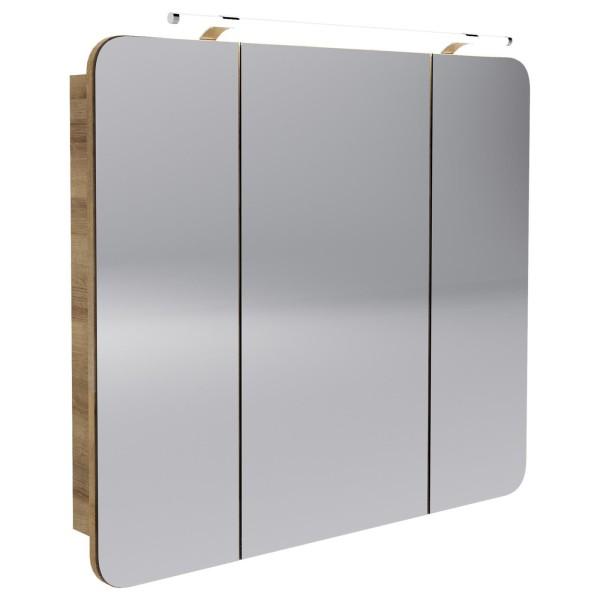 Fackelmann 84272 LED Spiegelschrank Milano 90 cm ast eiche