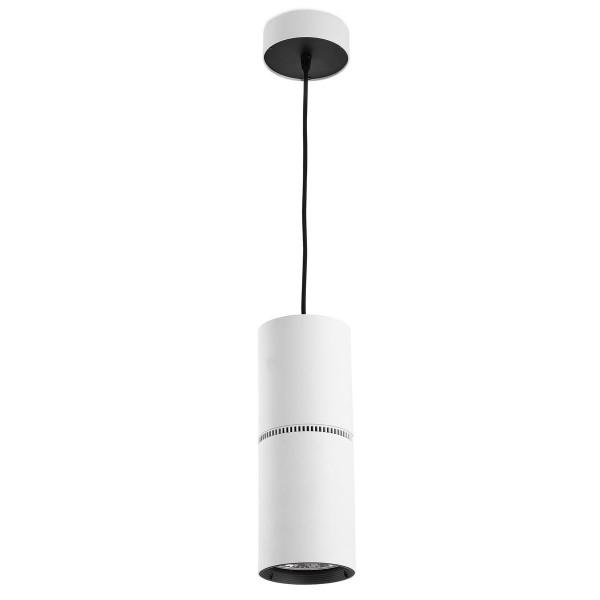 LED Pendelleuchte Bond Tube Ø 116 mm weiss / Diffuser Milchglas