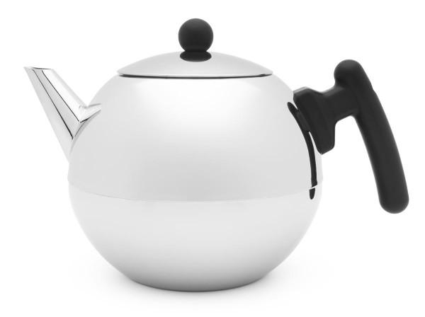 Bredemeijer Teekanne 1,2 L Duet Bella Ronde schwarz doppelwandig - Art.-Nr. 101001