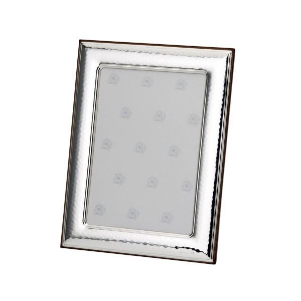 H.Bauer jun. Fotorahmen x 9 cm gehämmert Höhe 13 cm - Art.-Nr. 30039 edler silberner