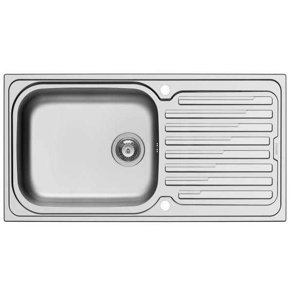 Pyramis Küchenspüle Amaltia Plus 100 cm 1 Becken 1D (Einbau)