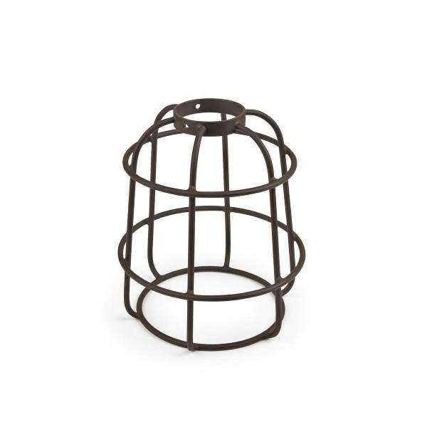 Lampenschirm Vintage Ø 132 mm dunkelbrauner Stahl