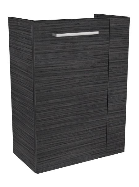Fackelmann 80172 Waschbecken Unterschrank Gäste WC Lino 44 cm dunkle Eiche links