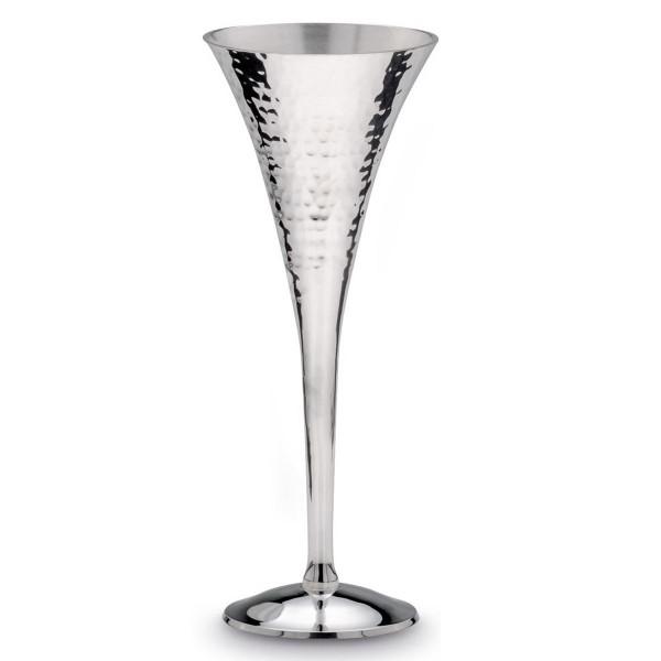 H.Bauer jun. Champagnerkelch 8 cm gehämmert Höhe 22.5 cm - Art.-Nr. 6176ver versilberter