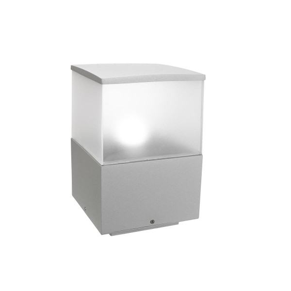 Pollerleuchte Cubik grau