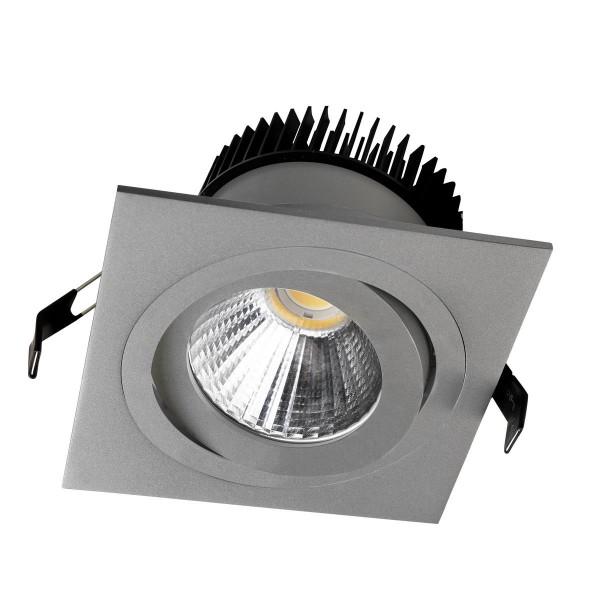 LED Einbauleuchte Delta Cob Ø 138 mm grau