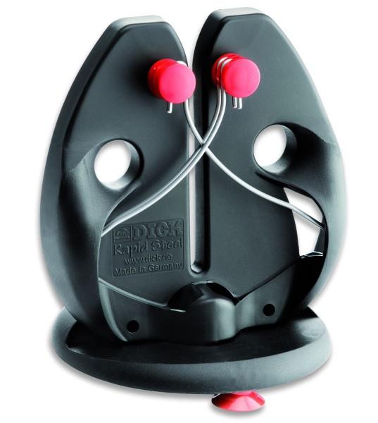 Dick 9009200 Rapid Steel Action Messerschärfer mit Standplatte schwarz