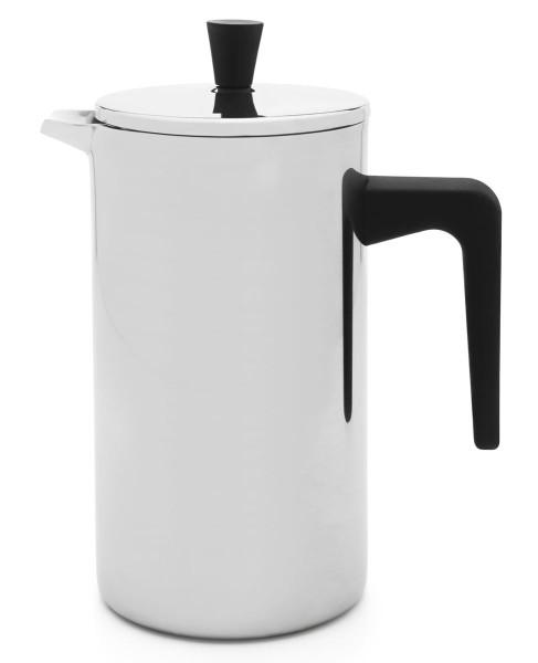 Leopold Vienna Kaffeebereiter Napoli schwarz doppelwandig Edelstahl 700 ml (6 Tassen) - Art.-Nr. LV113006