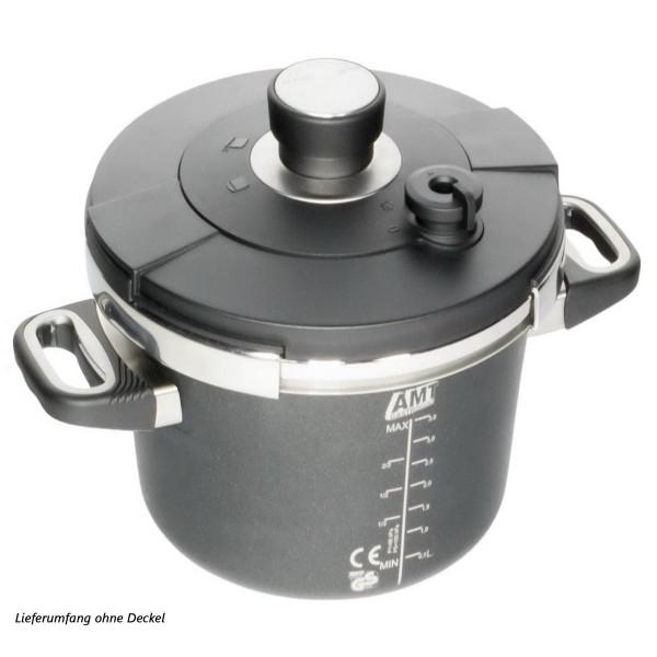 AMT Gastroguss Schnellkochtopf Induktion 22 cm Aluguss Höhe 8 cm ohne Deckel - Art.-Nr. I-822SK