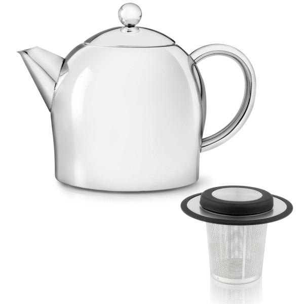 Bredemeijer doppelwandige Teekanne Set Edelstahl glänzend & Filter
