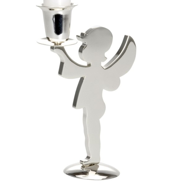 H.Bauer jun. Kerzenhalter Höhe 13.5 cm - Art.-Nr. 677ver großer versilberter