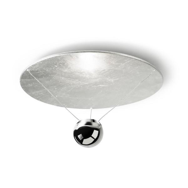LED Deckenleuchte Single Ø 514 mm blattsilber