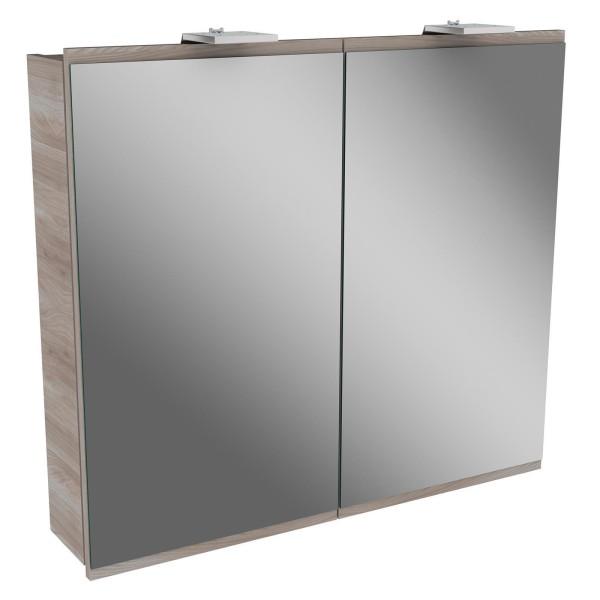 Fackelmann 84892 LED Spiegelschrank Lima 80 cm stein esche