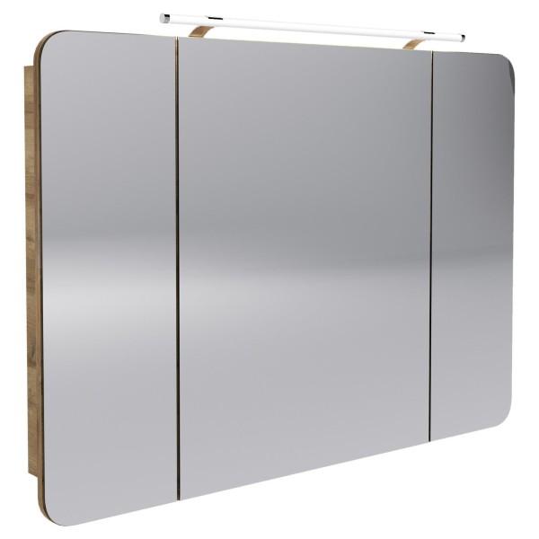 Fackelmann 84282 LED Spiegelschrank Milano 110 cm ast eiche