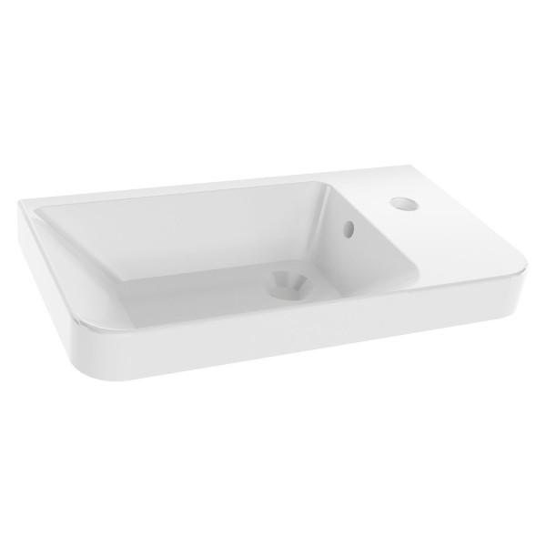 Fackelmann 82396 Waschbecken für Gäste-WC Keramik weiß 50 cm
