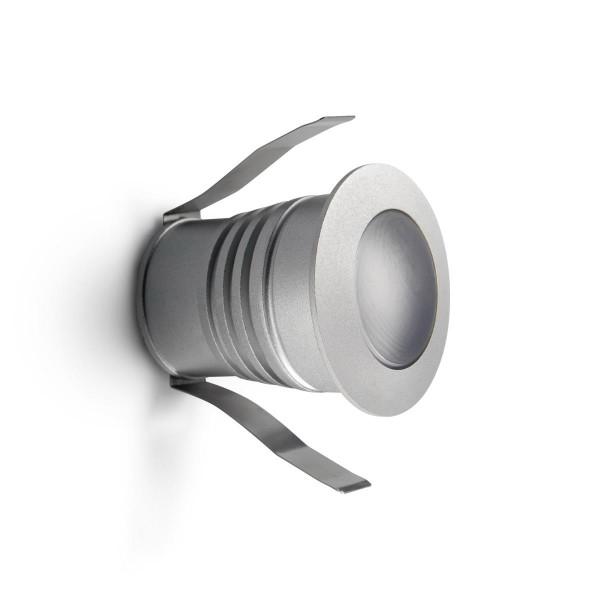LED Wandleuchte Dot Ø 42 mm grau