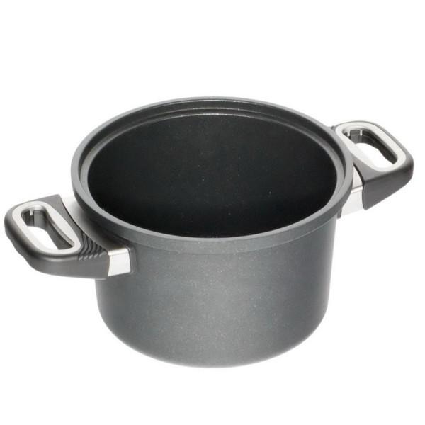 AMT Gastroguss Kochtopf Induktion 20 cm Aluguss Höhe 12 cm für wasserloses kochen - Art.-Nr. I-1220