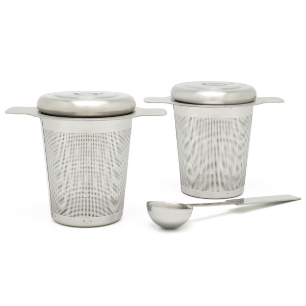 Dauer Edelstahl Teefilter Set mit Teemaßlöffel 3-teilig - Art.-Nr.191003