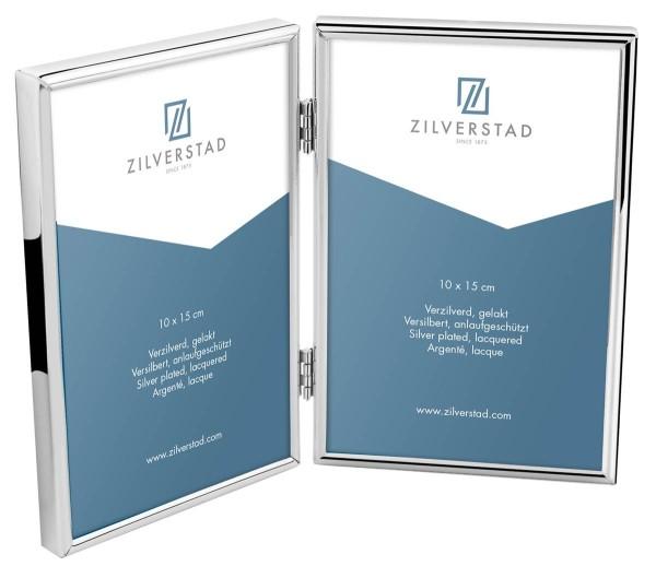 Zilverstad Bilderrahmen Sweet Memory versilbert anlaufgeschützt doppelt L 2x 10 cm H 15 cm - Art.-Nr. 6639231