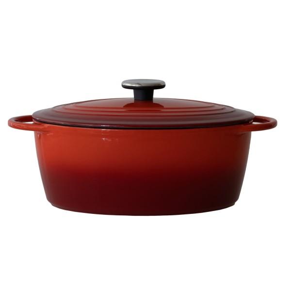 BAF kleiner roter ovaler Bräter 29 x 22 cm aus emailliertem Gusseisen - Art.-Nr. 100139292