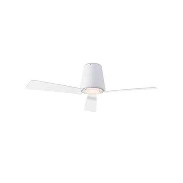 großer weiß matter LED Deckenventilator Garbi Ø 132 cm mit Acrylfügel