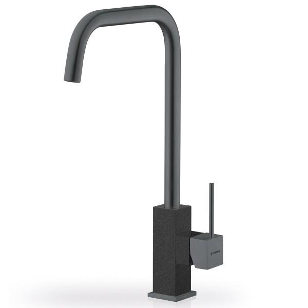 bronzierter Küchen Einhebelmischer Ausladung 183 mm