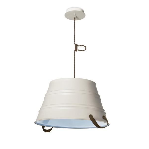Pendelleuchte Bucket Ø 450 mm off weiss blau
