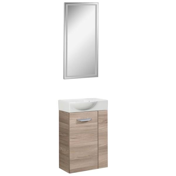 Fackelmann 3 teilige Gäste WC Badmöbel Kombi hängend 45 cm
