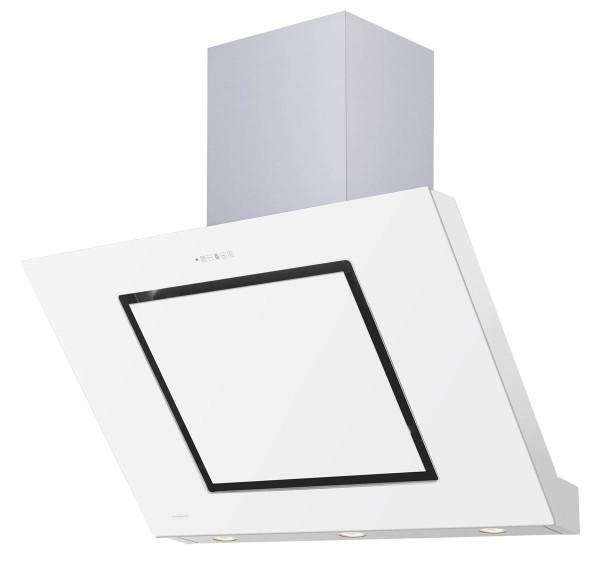 Oranier Kopffrei Wandhaube Lara Edelstahl Glas weiß 90 cm