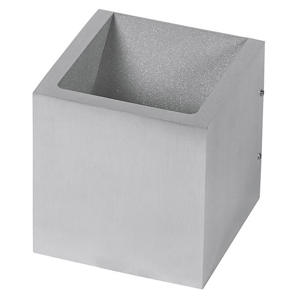 graue quadratische dimmbare LED Innen Außen Wandleuchte 10 cm