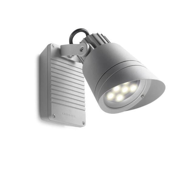 LED Strahler Hubble Ø 160 mm grau