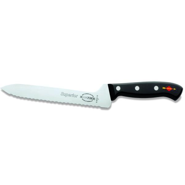 Dick 8405518 Superior Sandwichmesser Wellenschliff schwarz 18 cm