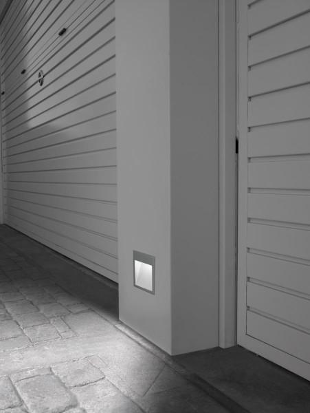 LED Wandeinbauleuchte Micenas grau