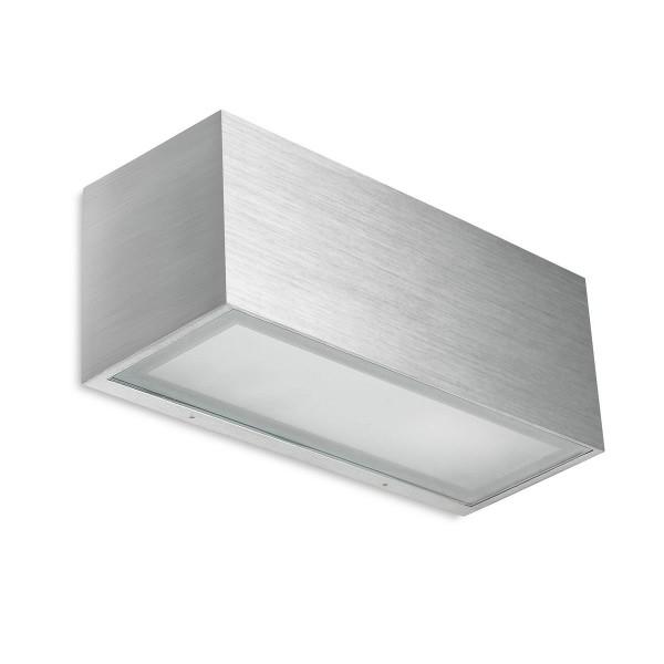 Wandleuchte Lia aluminium gebürstet