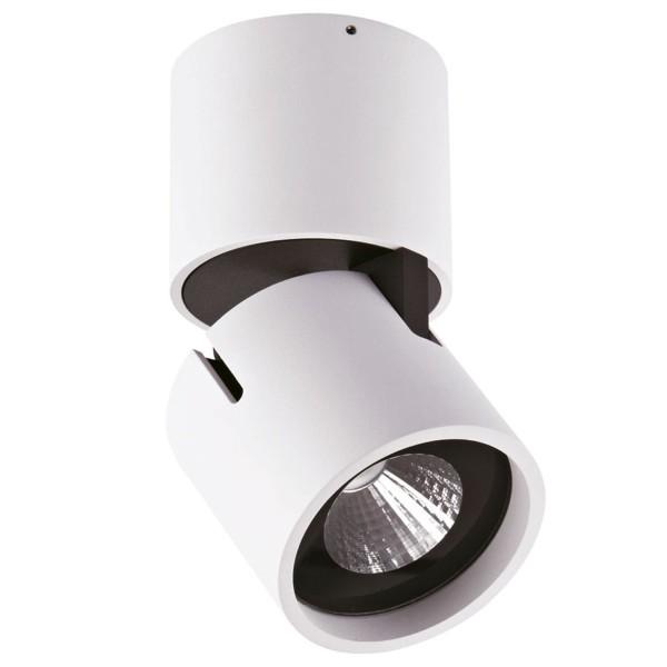 runder weißer verstellbarer LED Deckenstrahler einflammig Ø 9 cm