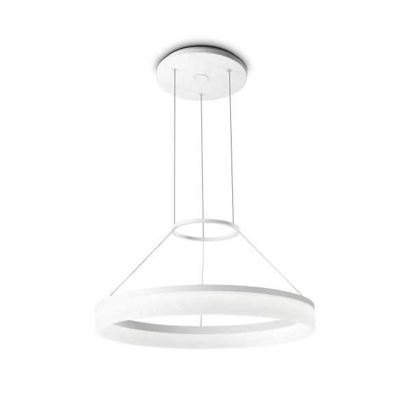 LED Pendelleuchte Circ Ø 600 mm matt weiss